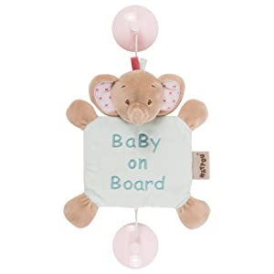 Nattou Charlotte and Rose, Rose the Elephant Baby on Board Sign