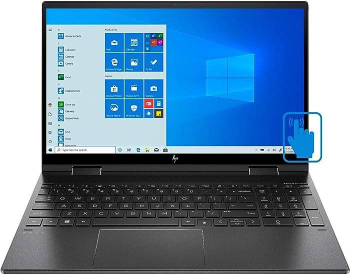 """HP Envy x360 15z-ee000 8MF60AV Nightfall Black Laptop (AMD Ryzen 7 4700U 8-Core, 8GB RAM, 256GB SSD, AMD Radeon Graphics, 15.6"""" Touch Full HD (1920x1080), Active Pen, Fingerprint, WiFi, Win 10 Home)"""