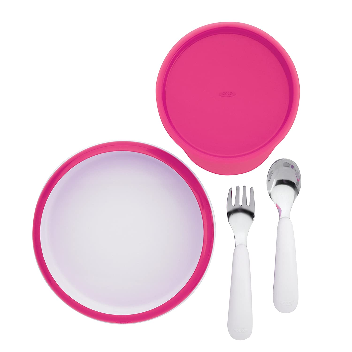 Raspberry OXO Tot Training Plate