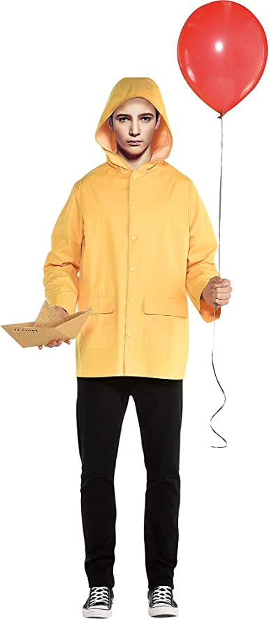 SUIT YOURSELF It Georgie Costume for Men, Standard Size, Includes a Yellow Raincoat and an SS Georgie Paper Boat
