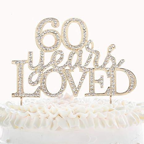 Amazon.com: Decoración para tartas de 60 años para 60 ...