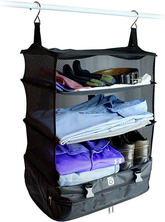 LILINSS Suit Storage Bag Mens Large-Capacity Folding Waterproof Oxford Cloth Portable Travel Bag Travel Storage Bag with Shoe Warehouse