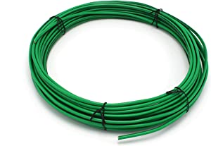 Green THHN Wire - 12 AWG - 25 Feet - Solid Copper Grounding Wire, Proudly Made in America - Ground Protection Satellite Dish Off-Air TV Signal - UV Jacketed Antenna Electrical Shock