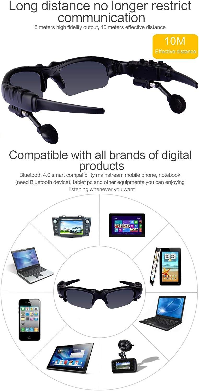 ZWLUCKY Occhiali Sportivi Multiuso Smart Bluetooth 4.1 Stereo Ascoltare Musica può Parlare Occhiali da Sole Polarizzati Ultra-Leggeri, Intrattenimento Guida All'aperto,Red Black