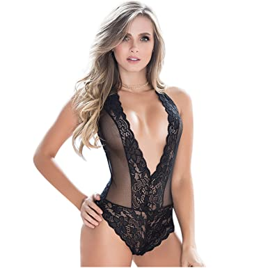Mapalé Sexy Lingerie Plunging Teddy Bodysuit for Women Ropa Interior Femenina at Amazon Womens Clothing store: