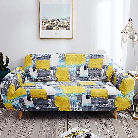 YIERYAO Funda de sofá de 4 plazas, sofá o sofá, elástica ...