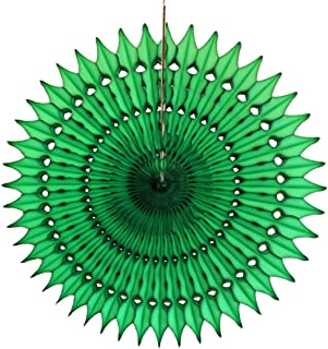 product image for 3-Pack 21 Inch Tissue Paper Party Fan (Dark Green)