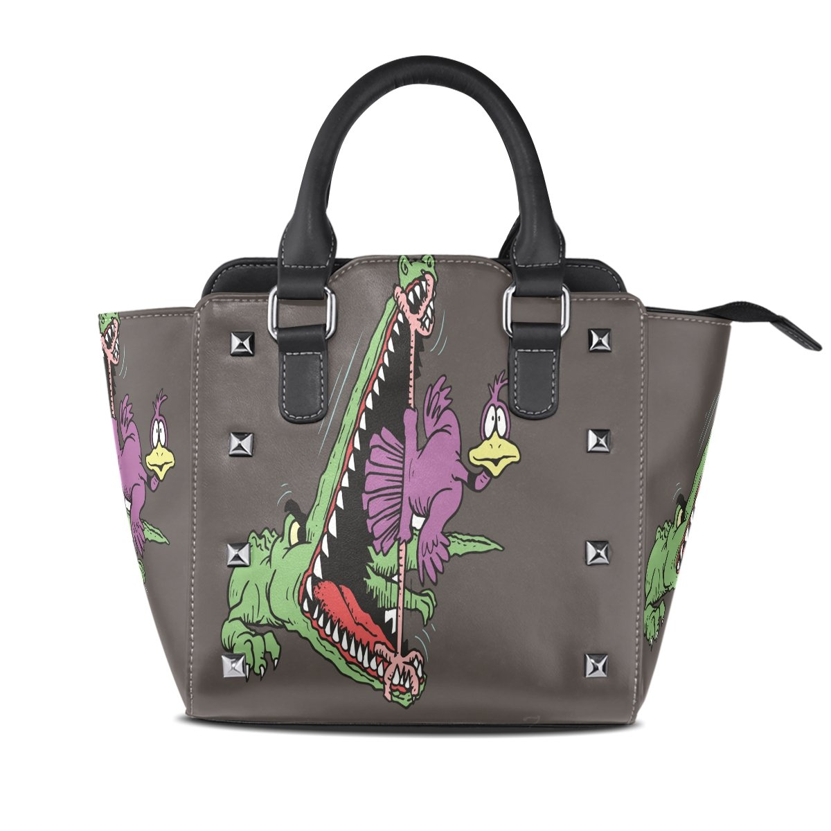 Womens Genuine Leather Hangbags Tote Bags Crocodile Ostrich Purse Shoulder Bags