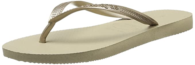 dde4febaa Havaianas Slim Sand Grey Light Golden Flip Flops - UK 3 4 - BR 35 36 ...