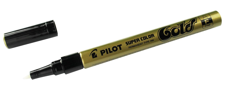GOLD//SILVER//WHITE PILOT SUPER COLOR SC-G-F PERMANENT MARKER EXTRA FINE 0.5mm