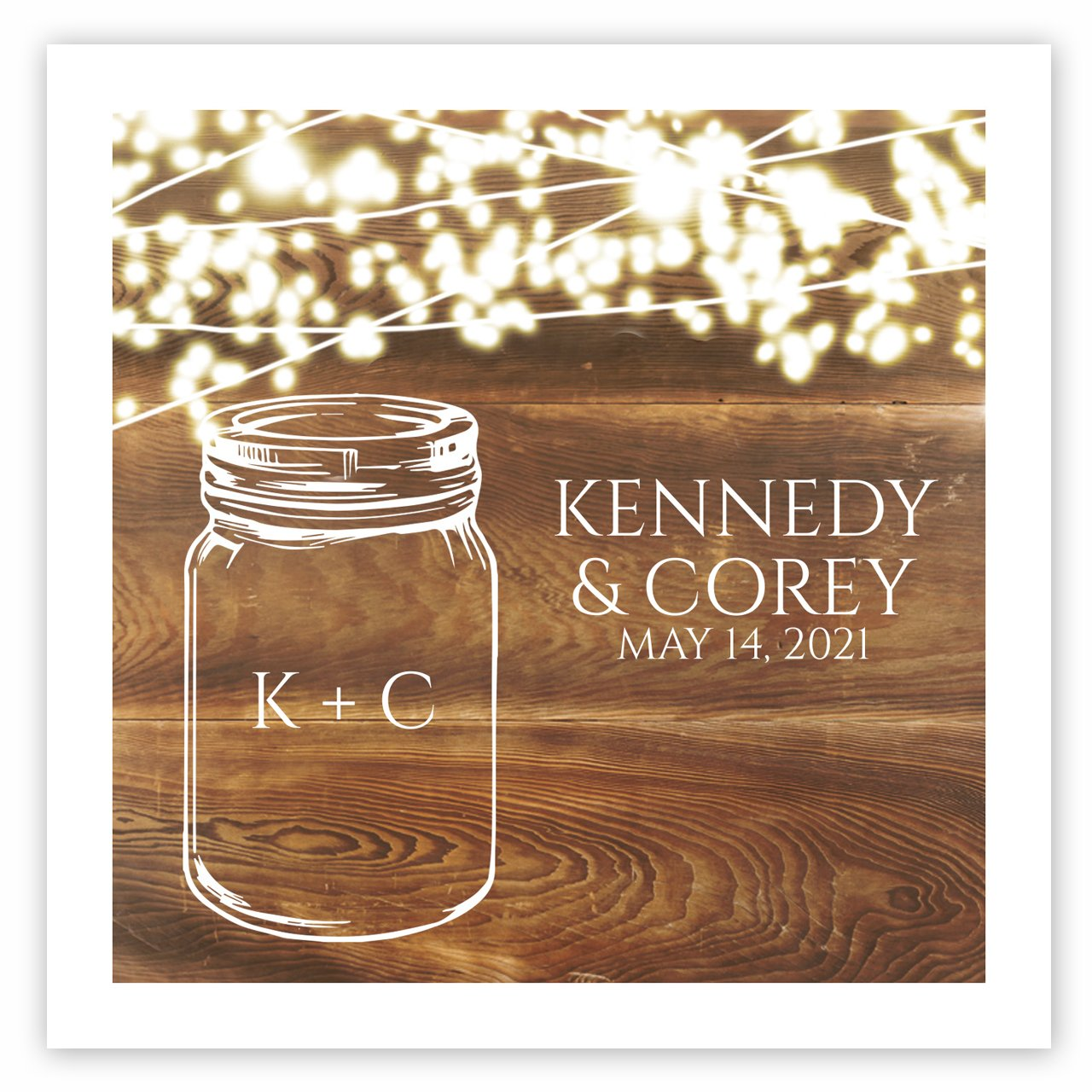 Country Sparkler Personalized Beverage Cocktail Napkins - 100 Paper Napkins by Canopy Street