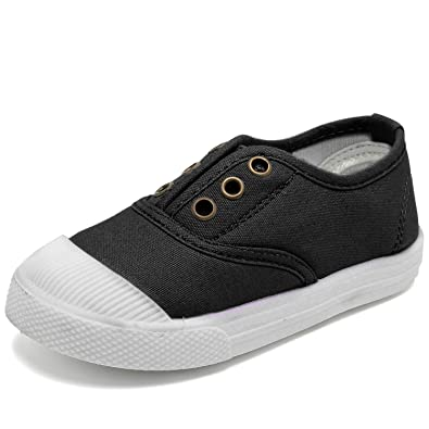 ff4be6ab29788 Kids Canvas Sneaker Slip-on Baby Boys Girls Casual Fashion Shoes