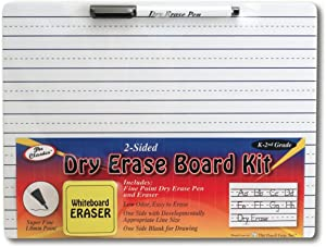 The Classics Dry Erase Whiteboard Kit Complete Set with 11.75 x 9 Inches Board, Black Dry Erase Pen and Eraser (TPG-388)
