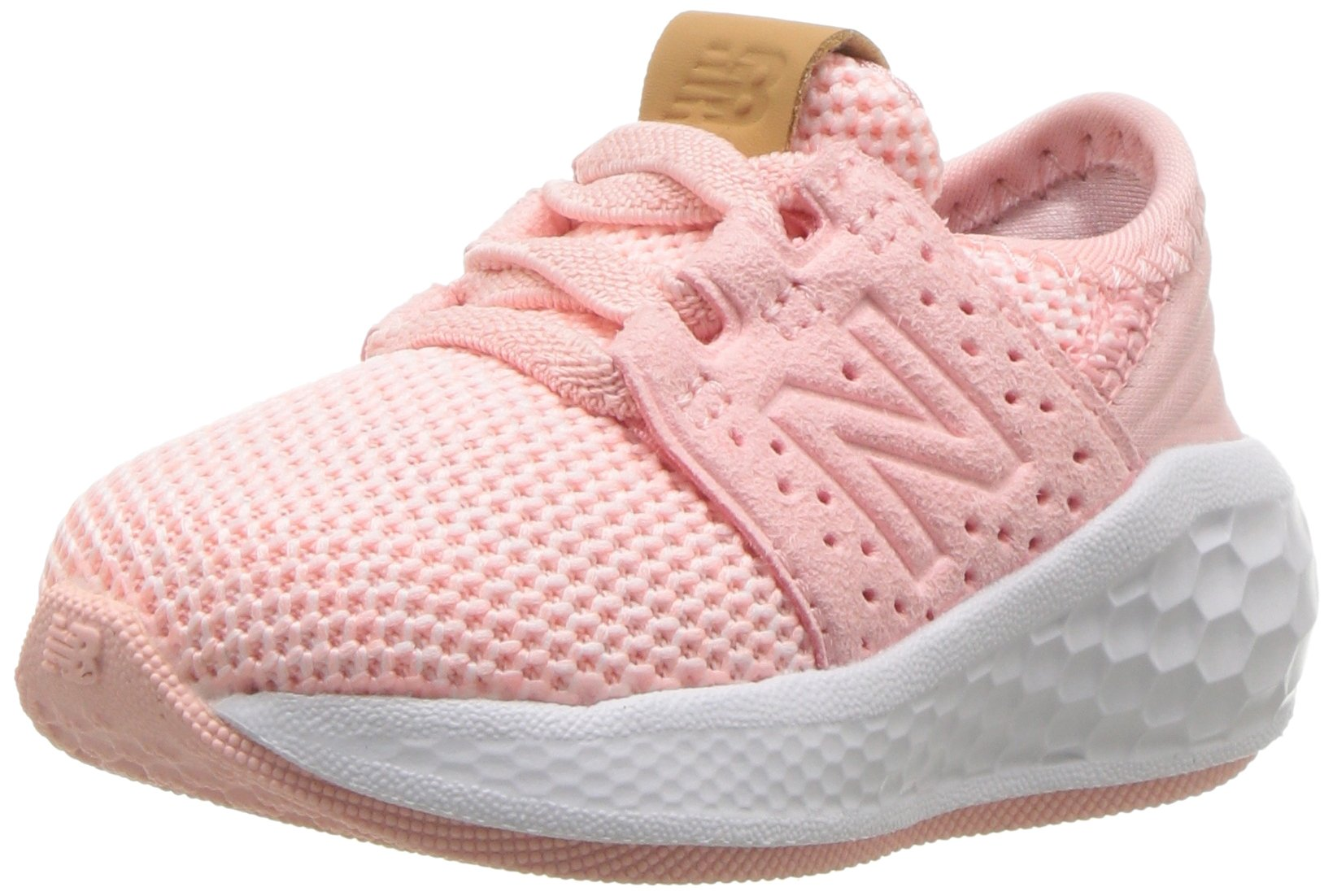 New Balance Girls' Cruz V2 Fresh Foam Running Shoe, Himalayan Pink, 7 M US Toddler