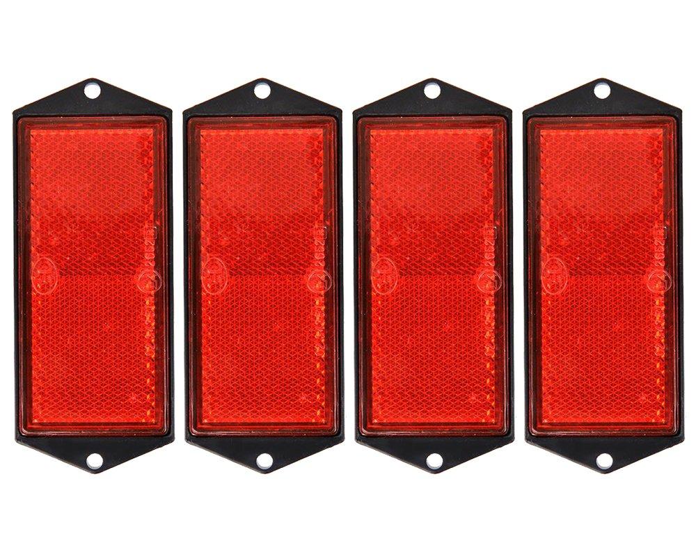 4x Reflektor rot 104x40mm zum Anschrauben von The Drive 17933-4