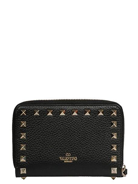 Valentino Garavani Mujer Rw2p0p79vsh0no Negro Cuero Billetera: Amazon.es: Ropa y accesorios