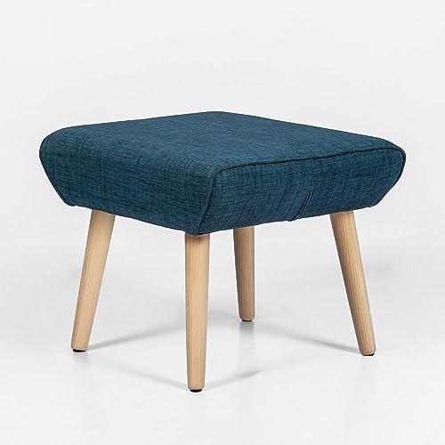 Adeco Modern Simple Nordic Fabric Ottoman Seat Stool