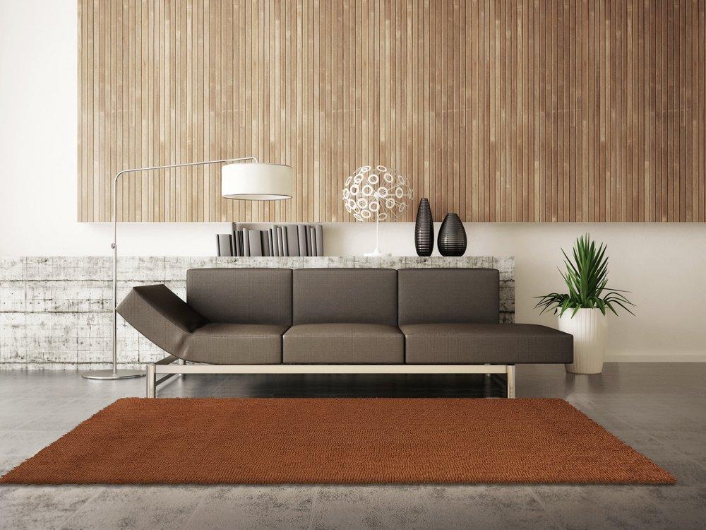 Trend-Teppiche Luxus Langflor Shaggy Teppich I Wohnzimmerteppich Esszimmerteppich Bettumrandung Vorleger Teppichläufer Flur-Läufer Bettvorleger I Hochwertige, Größe 200x290, Farbe Kupfer
