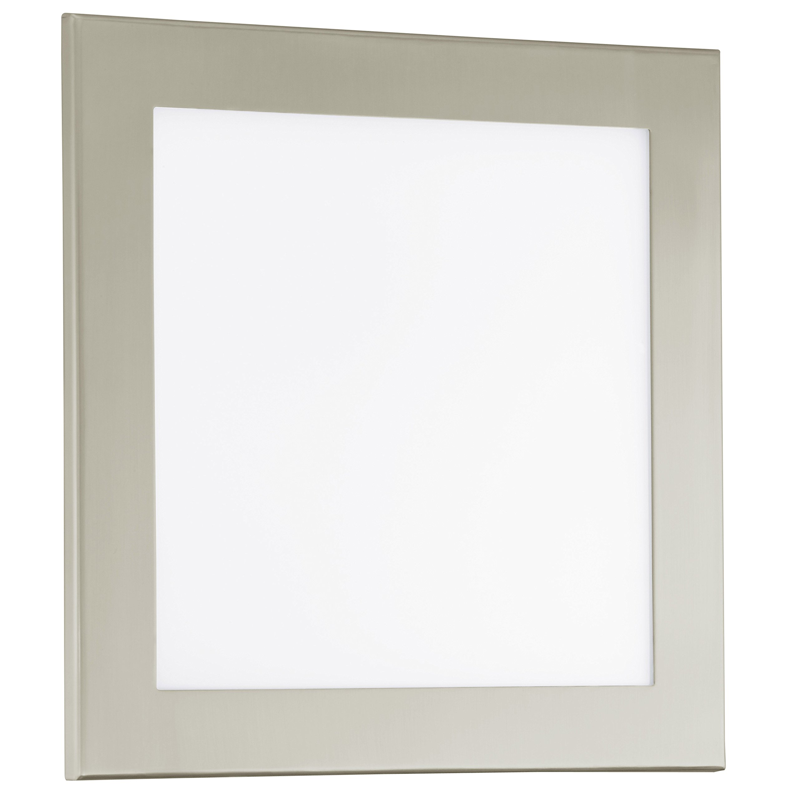 Eglo 91683A LED Ceiling Light with Satin Glass, Matte Nickel Finish