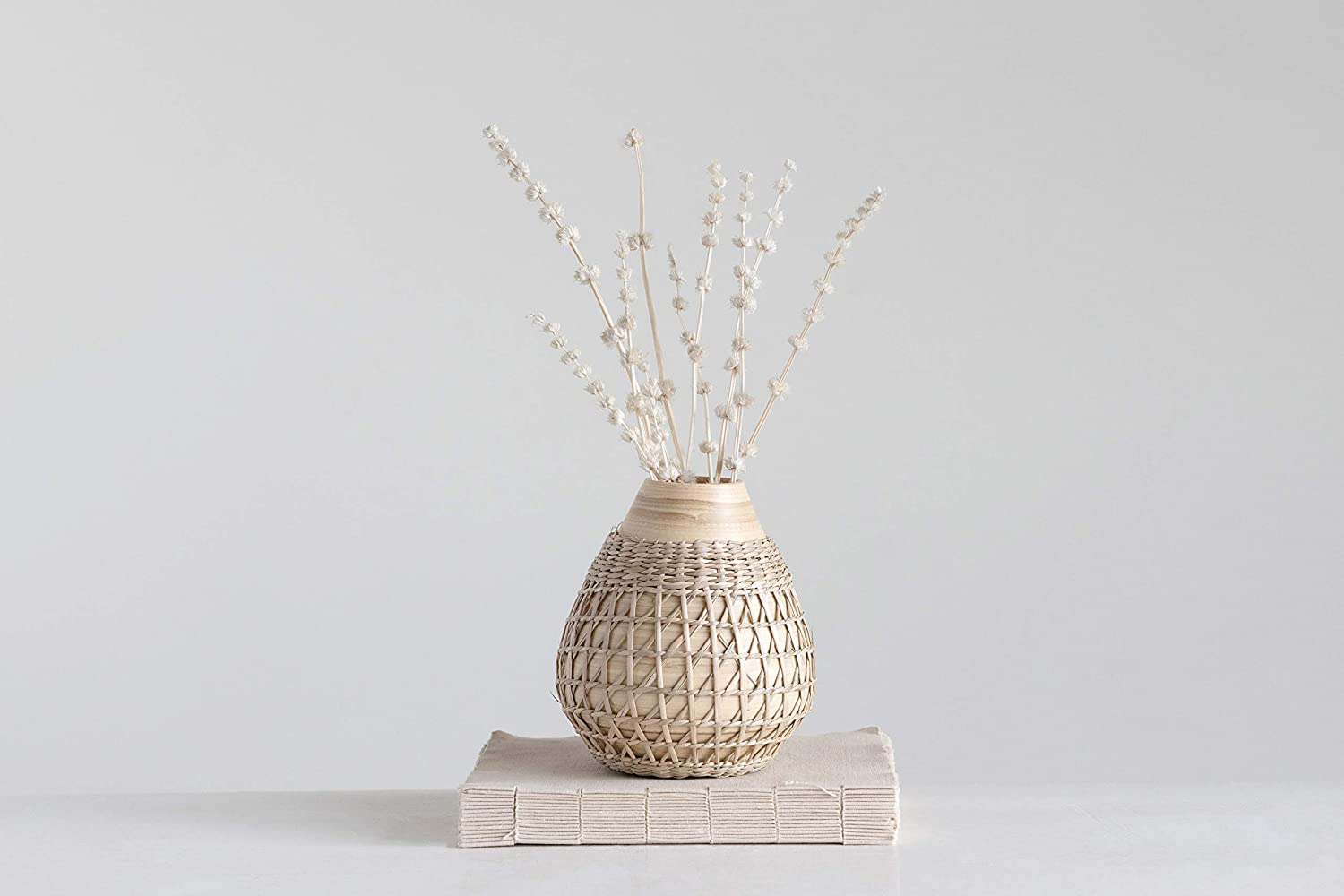 Shop Creative Co-op Bamboo Seagrass Weave Vase from Amazon on Openhaus