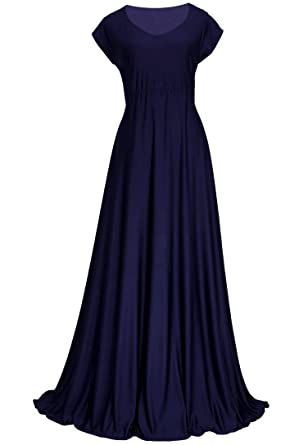 2227b7ca88447 Bridesmaid Women Evening Gown Plus Size Prom Long Vintage Wedding  Homecoming Formal Aline Maxi Dress (2X-Long 58 inch