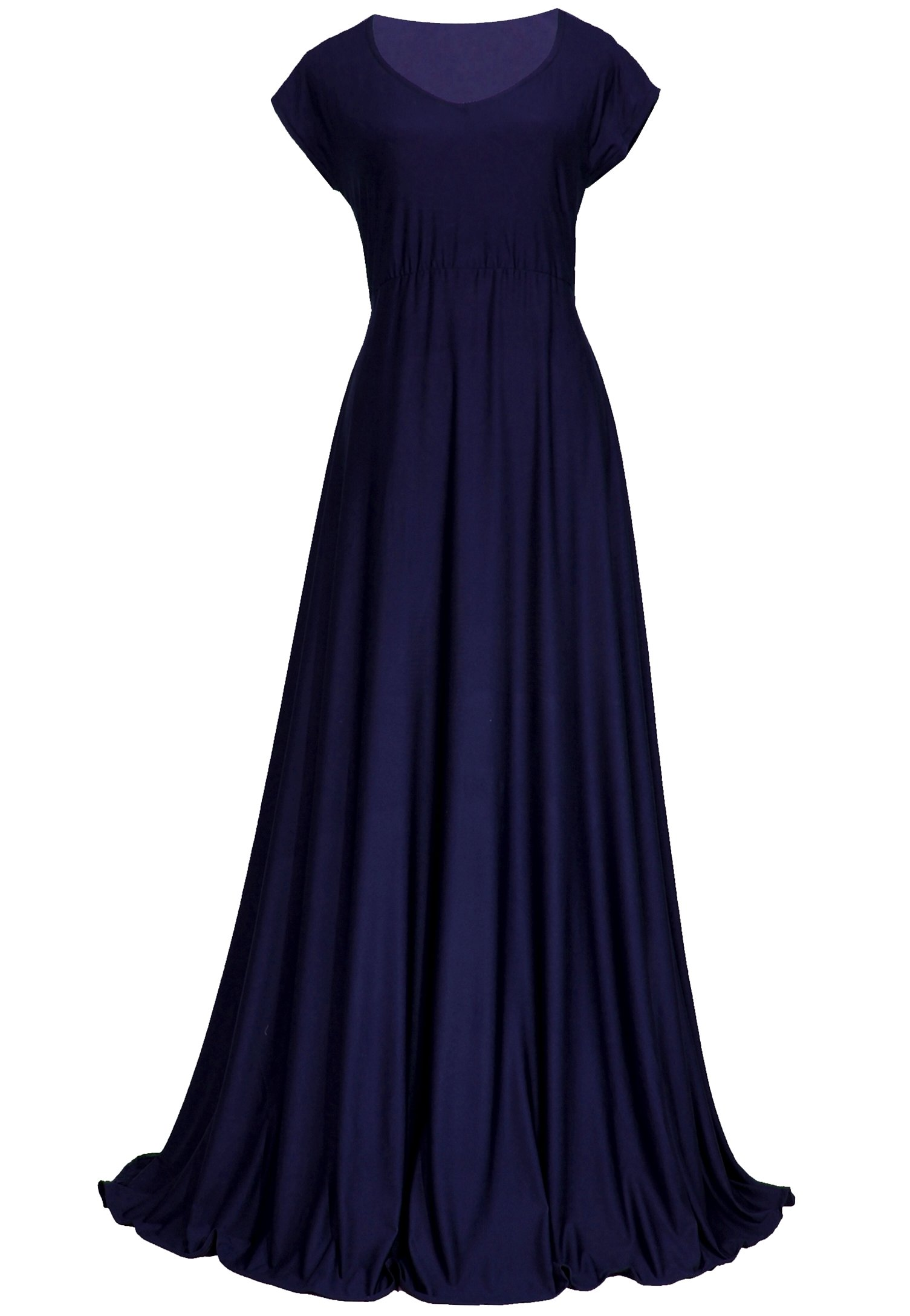 Bridesmaid Women Evening Gown Plus Size Prom Long Vintage Wedding  Homecoming Formal Aline Maxi Dress (1X-Long 58 inch, Navy Blue)