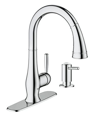 Grohe 30216000 Wexford Single Handle Pull Down Spray Head Kitchen Faucet