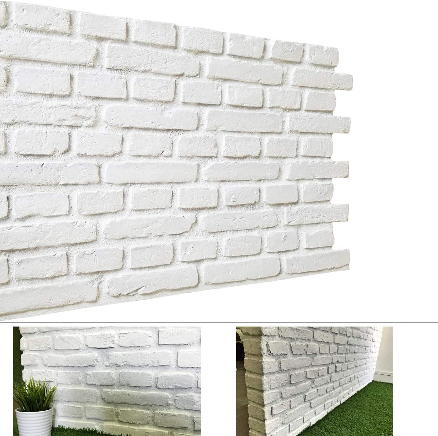 Faux Brick Wall Panels Diy Wall Decoration With Rustic Design Faux Rust Tuscan 3d Brick Wall Panels For Tv Background Wall Exterior Wall 32 Square Feet Box Matt White Home Improvement