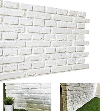 Faux Rust Tuscan 3d Brick Wall Panels 1 Box Matt White Vb Amazon Co Uk Diy Tools