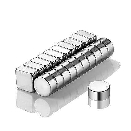 ecooe Imanes 20 Piezas Muy Resistentes (10x10x5mm y 10x5mm ...