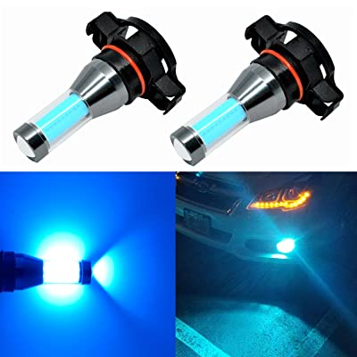 Alla Lighting 2504 PSX24W LED Fog Lights Bulbs Xtreme Super Bright LED PSX24W Fog Light Bulbs - High Power COB Universal 2504 PSX24W LED Bulb Fog Lights Lamp Replacement, 8000K Ice Blue: Automotive