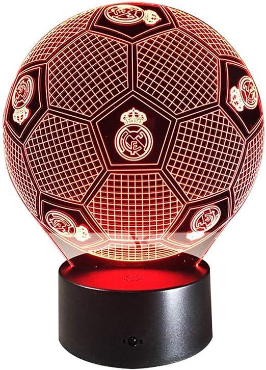 3D Espejismo Efecto LED Luz De Noche Fútbol Real Madrid Forma ...