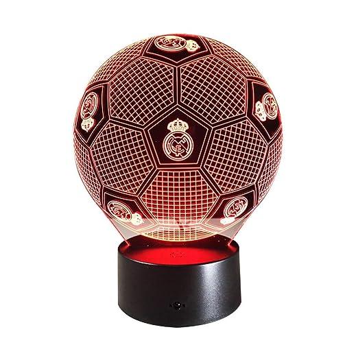 3D Espejismo Efecto LED Luz De Noche Fútbol Real Madrid ...