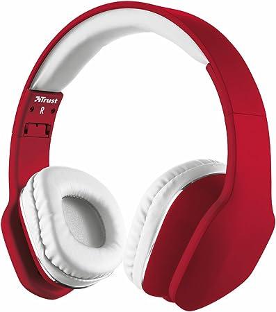 nouvelle apparence conception adroite style moderne Trust Urban Mobi Casque Audio Filaire pour Smartphone et Tablette -  Rouge/Blanc