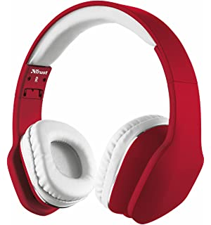 Trust Urban Mobi - Auriculares de diadema cerrados, rojo y blanco