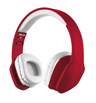 Trust Urban Mobi Over Ear Stereo Headphone for Smartphone and Tablet - Red