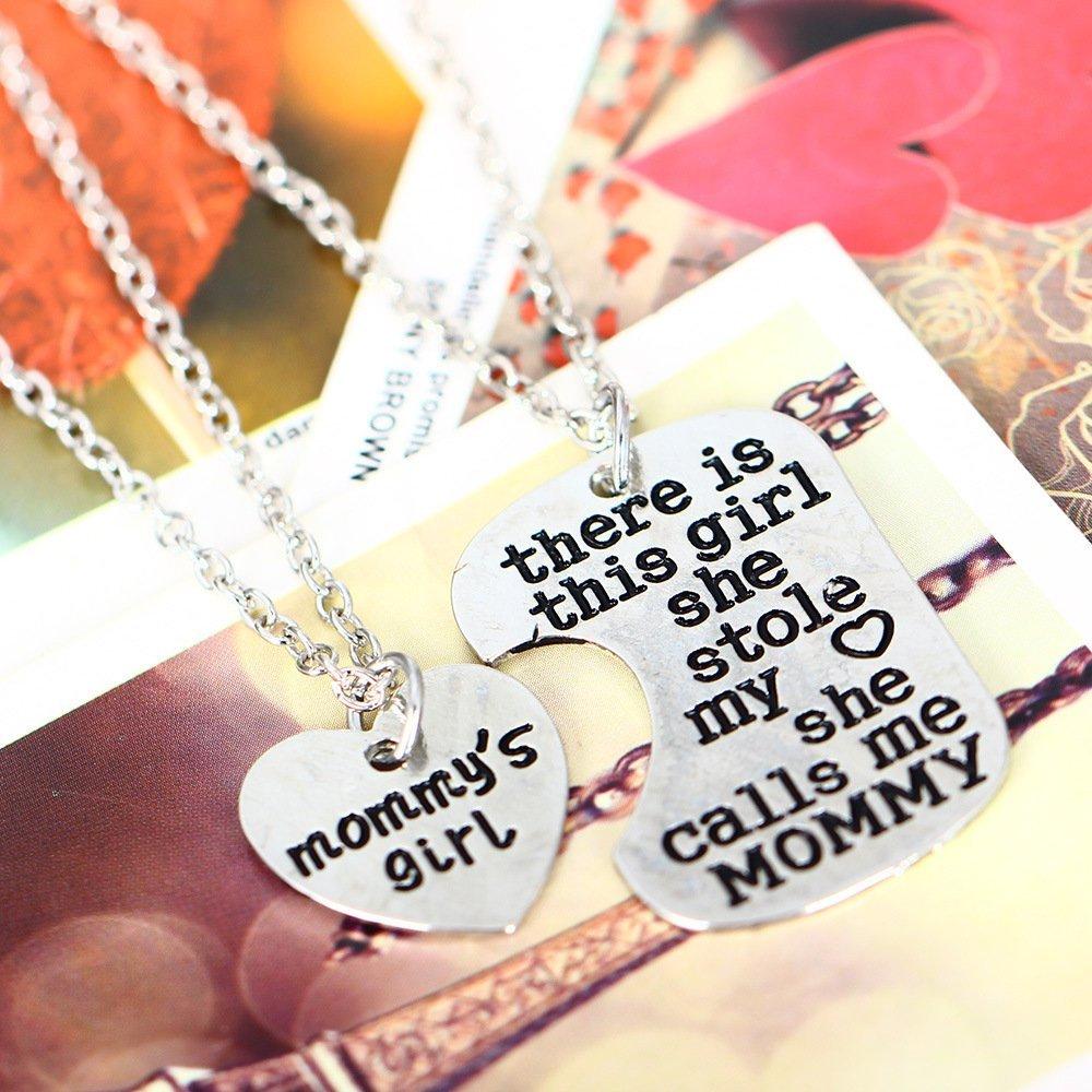 /Collar d/ía de la Madre y regalo para el d/ía de Acci/ón de Gracias Hay esta Chica Ella Stole My Heart/ /fancyus Beautiful 2/Parte Mommy /& Hija/