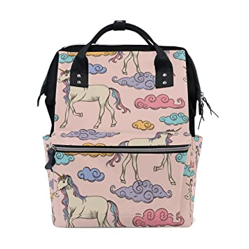 24bf9491a7bd Amazon.com   MaMacool Mummy bag Diaper Tote Bags Larger Capacity Baby Nappy  Bag Fashion Personalized Unicorn Design Mummy Backpack   Baby