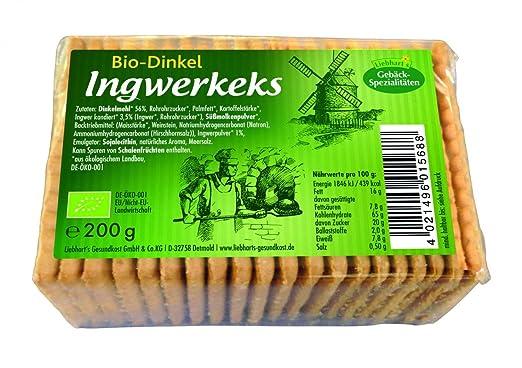 Liebhart´s Gesundkost Bio-Dinkel Ingwerkeks, 200 g: Amazon.de ...