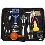 Baban Kit portable de 22 outils répéartion montre réduction de taille de bracelet changement de pile & trousse à fermeture avec barrettes à ressort en acier