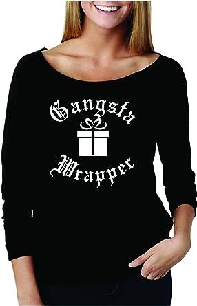 6c57778208 UNAMEIT Gangsta Wrapper Raglan Tee. 3 4 Sleeve Christmas Cozy Terry Raw  Edge 3