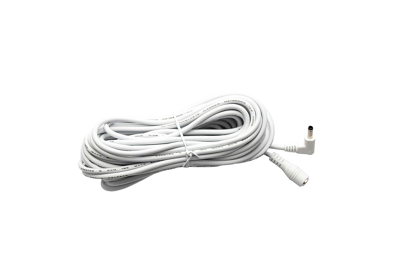 DC Verl/ängerungskabel 10m Strom DC Kabel in wei/ß//DC-Hohlsteckerbuchse//DC-Hohlstecker im Format 4,0mm x 1,7mm 10 Meter
