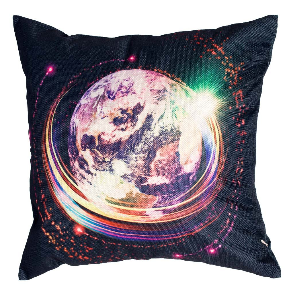 Abstract Geometric Longshengv Decorative Throw Pillow Cushion Covers Highly Detailed Epic Galaxy And Stars Couch Pillows Cover 18 x 18 Inch