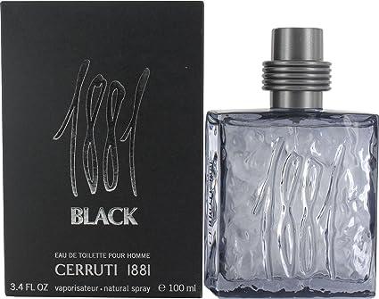 Cerruti 1881 - Agua de colonia en spray para hombre, 100 ml, color negro