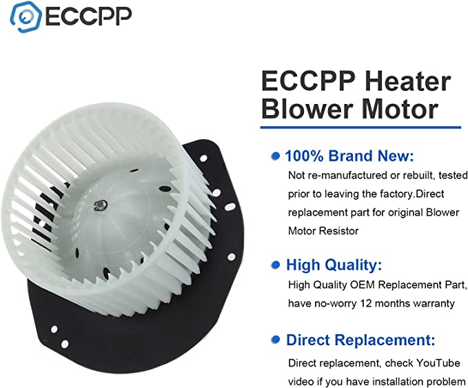 HVAC plastic Heater Blower Motor w//Fan Cage ECCPP fit for 1979-1982 Ford LTD //1980-1983 Ford F-100//1980-1983 Lincoln Mark VI //1980-1986 Ford Bronco //1980-1985 Ford F-150