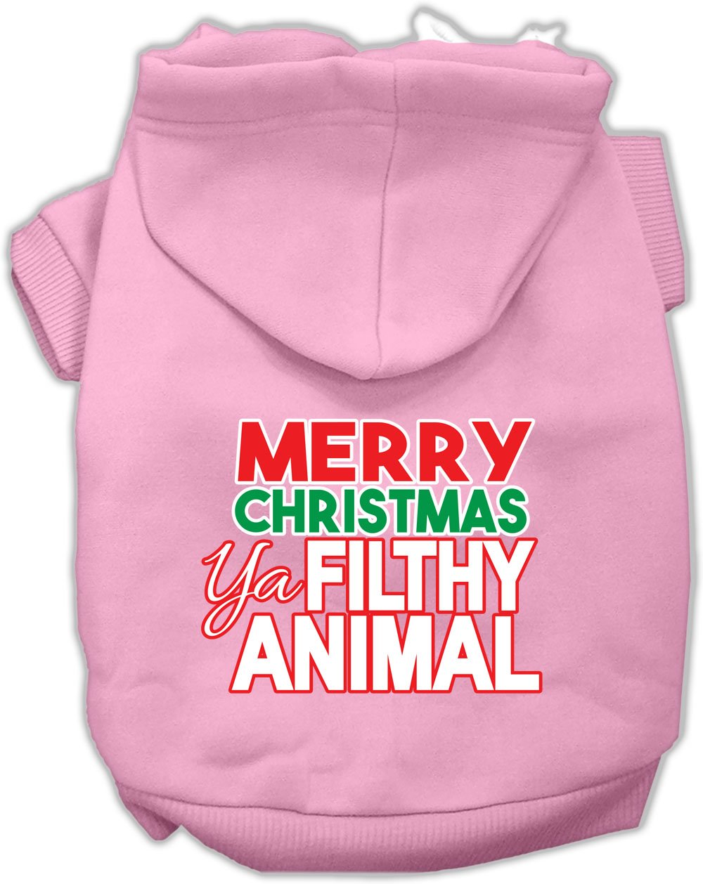 Mirage Pet Products 62-148 XXXLLPK Ya Filthy Animal Screen Print Light Pink Pet Hoodie, 3X-Large