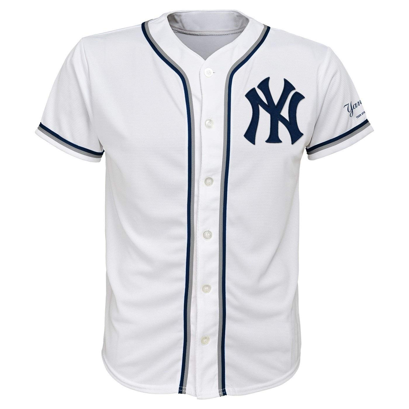 24b2f836 Amazon.com: Outerstuff New York Yankees White Youth Team Apparel ...