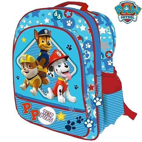 9662c17be6 Bakaji Zaino Paw Patrol 4 Cerniere Stampa Plastificata Cuccioli Pets Scuola  Bambini Elementari 41 cm