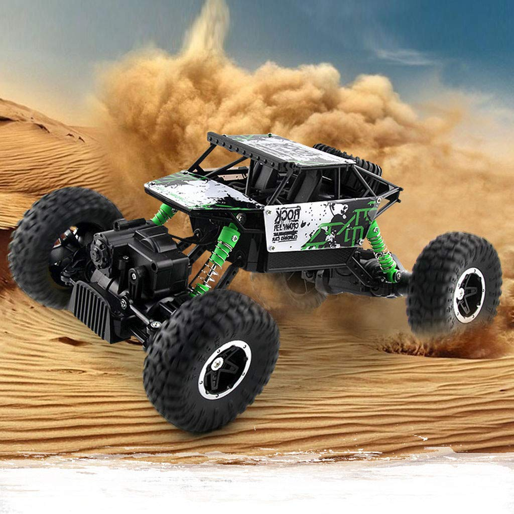 1:16 Scale All Terrain RC Car 35KM/H High Speed, 4WD Electric Vehicle, 2.4 GHz Radio Controller Off-Road Truck Best Interaction Gifts for Kids Age 8+ (♥ Green)