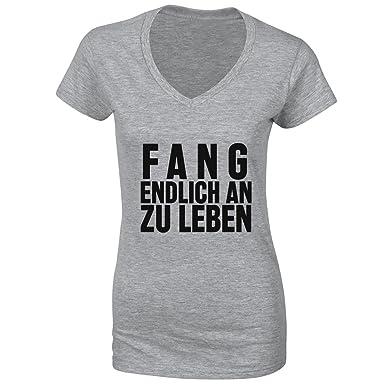 Fang Endlich An Zu Leben Small Damen V-neck T-shirt
